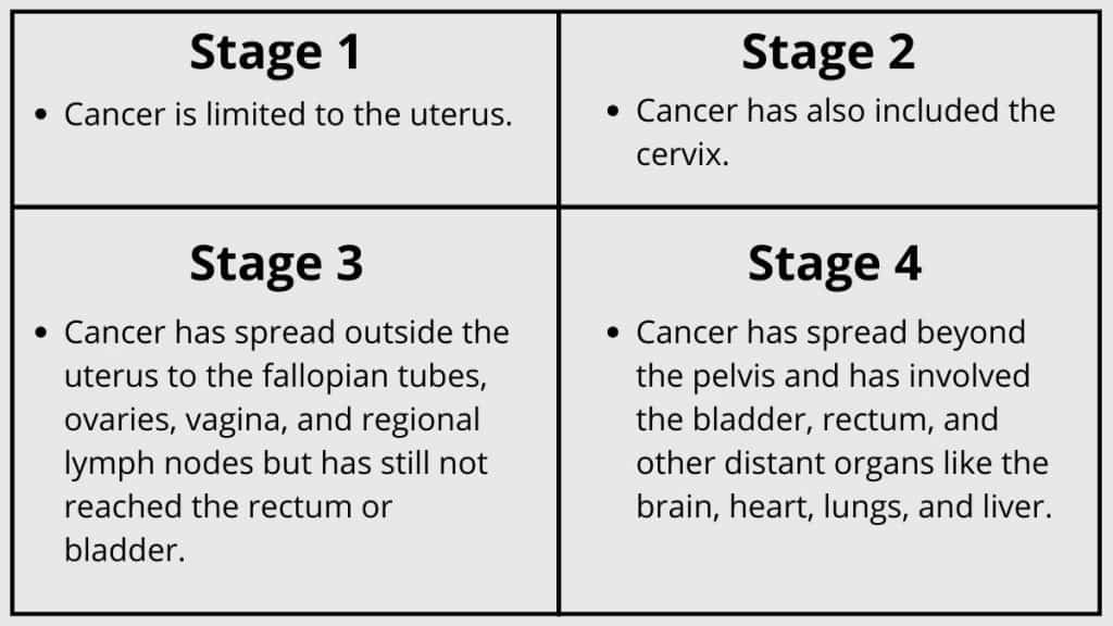 Stages of endometrial cancer